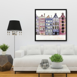 Framed 36 x 36 - Old historic houses amsterdam