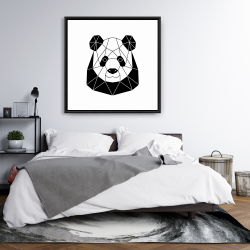 Framed 36 x 36 - Geometric panda