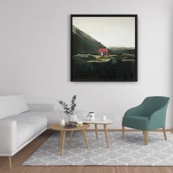 Framed 36 x 36 - Isolated shack