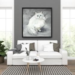 Framed 36 x 36 - Chinchilla persian cat