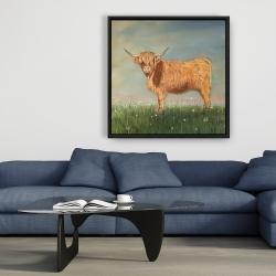 Framed 36 x 36 - Daisy the highland cow