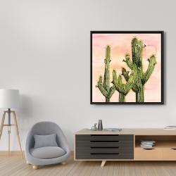 Framed 36 x 36 - Weberocereus cactus