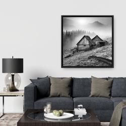 Framed 36 x 36 - Mountain carpathian village
