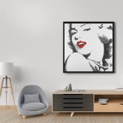 Framed 36 x 36 - Marilyn monroe outline style