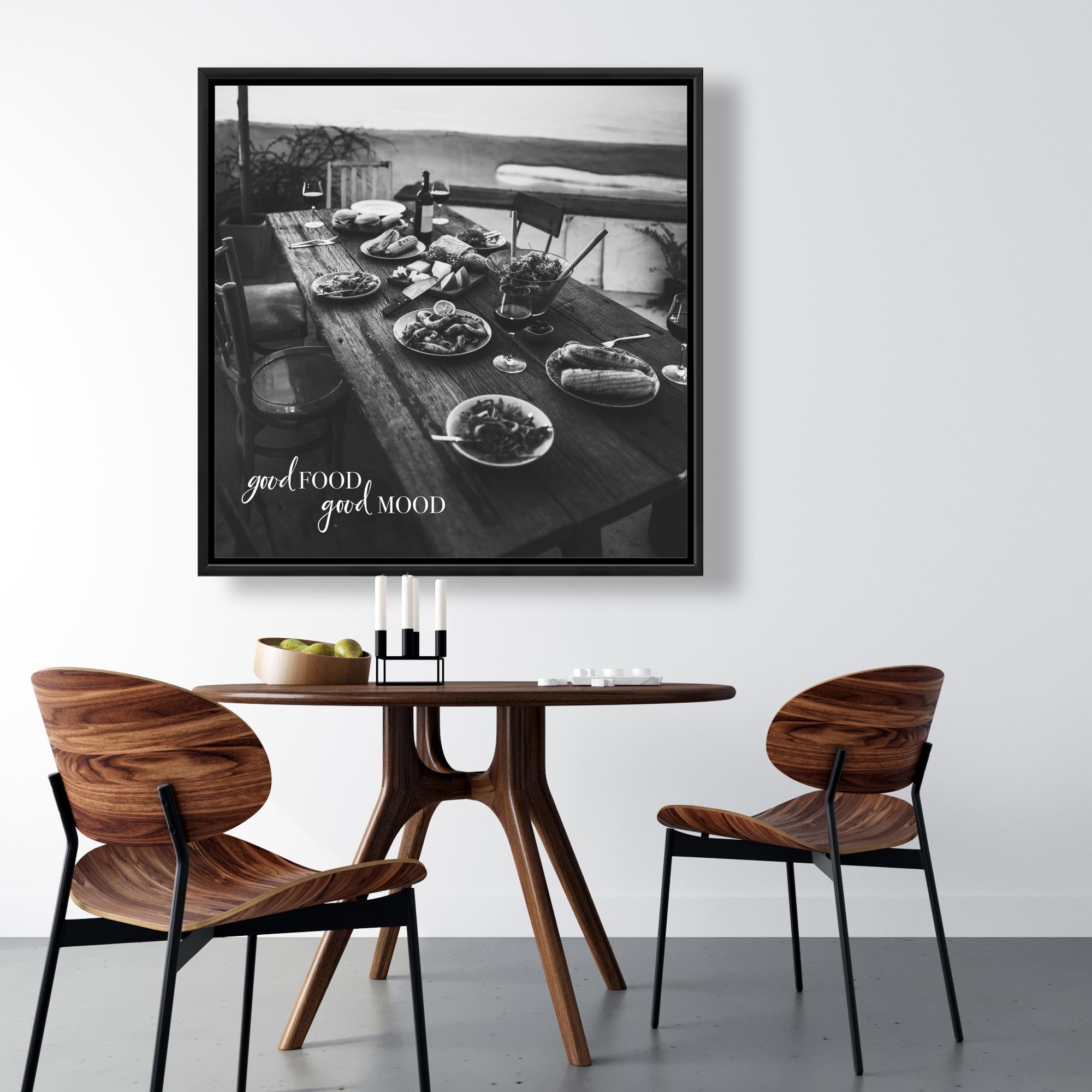 Framed 36 x 36 - Good food good mood