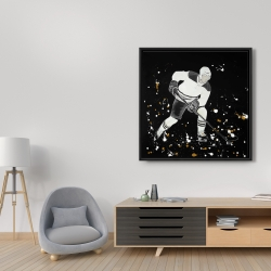 Framed 36 x 36 - Hockey player in action