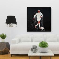 Framed 36 x 36 - Soccer player