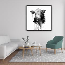 Framed 36 x 36 - Jersey cow