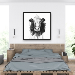 Framed 36 x 36 - Cow