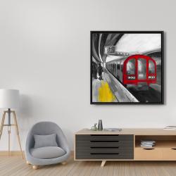 Framed 36 x 36 - Waiting subway
