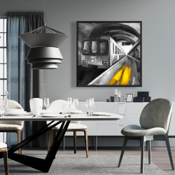 Framed 36 x 36 - Urban life