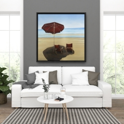 Framed 36 x 36 - Relax at the beach