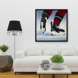 Framed 36 x 36 - Hockey player