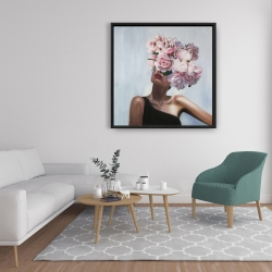 Framed 36 x 36 - See life in flowers