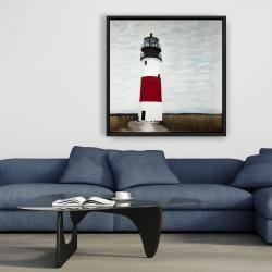 Framed 36 x 36 - Sankaty head lighthouse