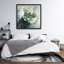 Framed 36 x 36 - White lilacs