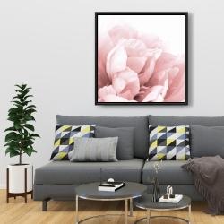 Framed 36 x 36 - Peony flower dream