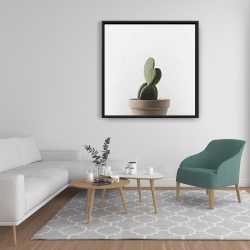 Framed 36 x 36 - Potted cactus