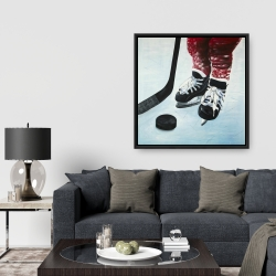 Framed 36 x 36 - Young hockey player