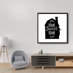 Framed 36 x 36 - Home sweet home