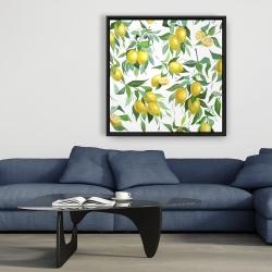 Framed 36 x 36 - Lemon pattern