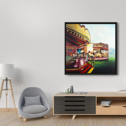 Framed 36 x 36 - Carousel in a carnaval