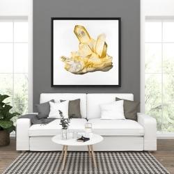 Framed 36 x 36 - Citrine stone
