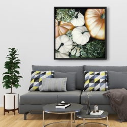 Framed 36 x 36 - Fall pumpkins