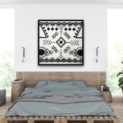 Framed 36 x 36 - Ethnic patterns