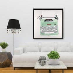 Framed 36 x 36 - Mint typewriter