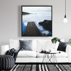 Framed 36 x 36 - Evening on the dock