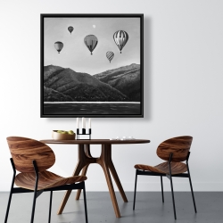 Framed 36 x 36 - Air balloon landscape
