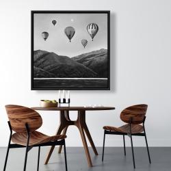 Framed 36 x 36 - Air balloon landscape
