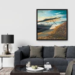Framed 36 x 36 - Peaceful seaside