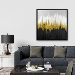 Framed 36 x 36 - Golden zigzag