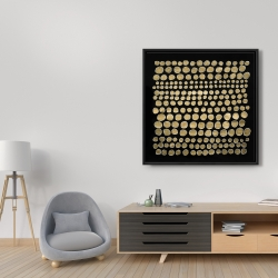 Framed 36 x 36 - Dots on gold