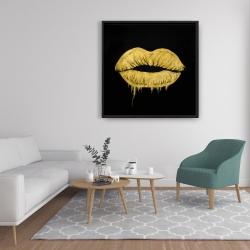 Framed 36 x 36 - Golden lips