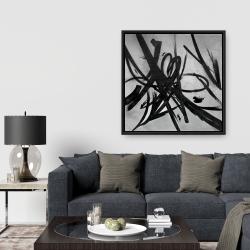 Framed 36 x 36 - Circular strokes