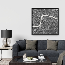Framed 36 x 36 - Graphic map of london