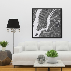 Framed 36 x 36 - New york graphic map