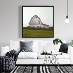Framed 36 x 36 - Rustic barn