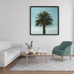 Framed 36 x 36 - Tropical palm