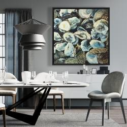 Framed 36 x 36 - Oyster shells
