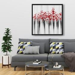 Framed 36 x 36 - Little peas red