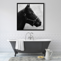 Framed 36 x 36 - Gallopin the horse
