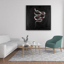 Framed 36 x 36 - Snake flowers