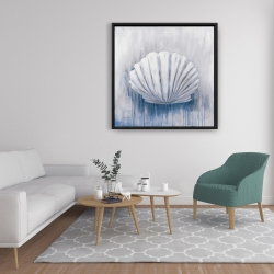 Framed 36 x 36 - Blue feston shell