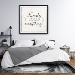 Framed 36 x 36 - Family