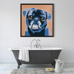 Framed 36 x 36 - Flash the pug