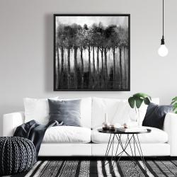 Framed 36 x 36 - Monochrome trees
